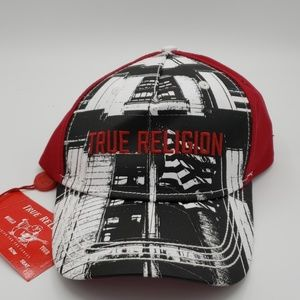 True Religion Flag Adjustable Strapback Cap OS